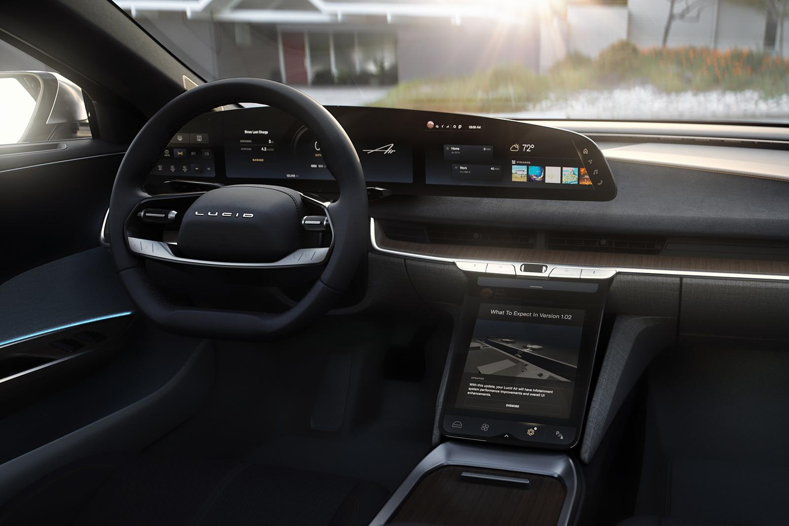 Lucid Air user experience interface