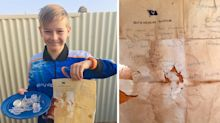 Aussie boy finds incredible 50-year-old message in a bottle on fishing trip