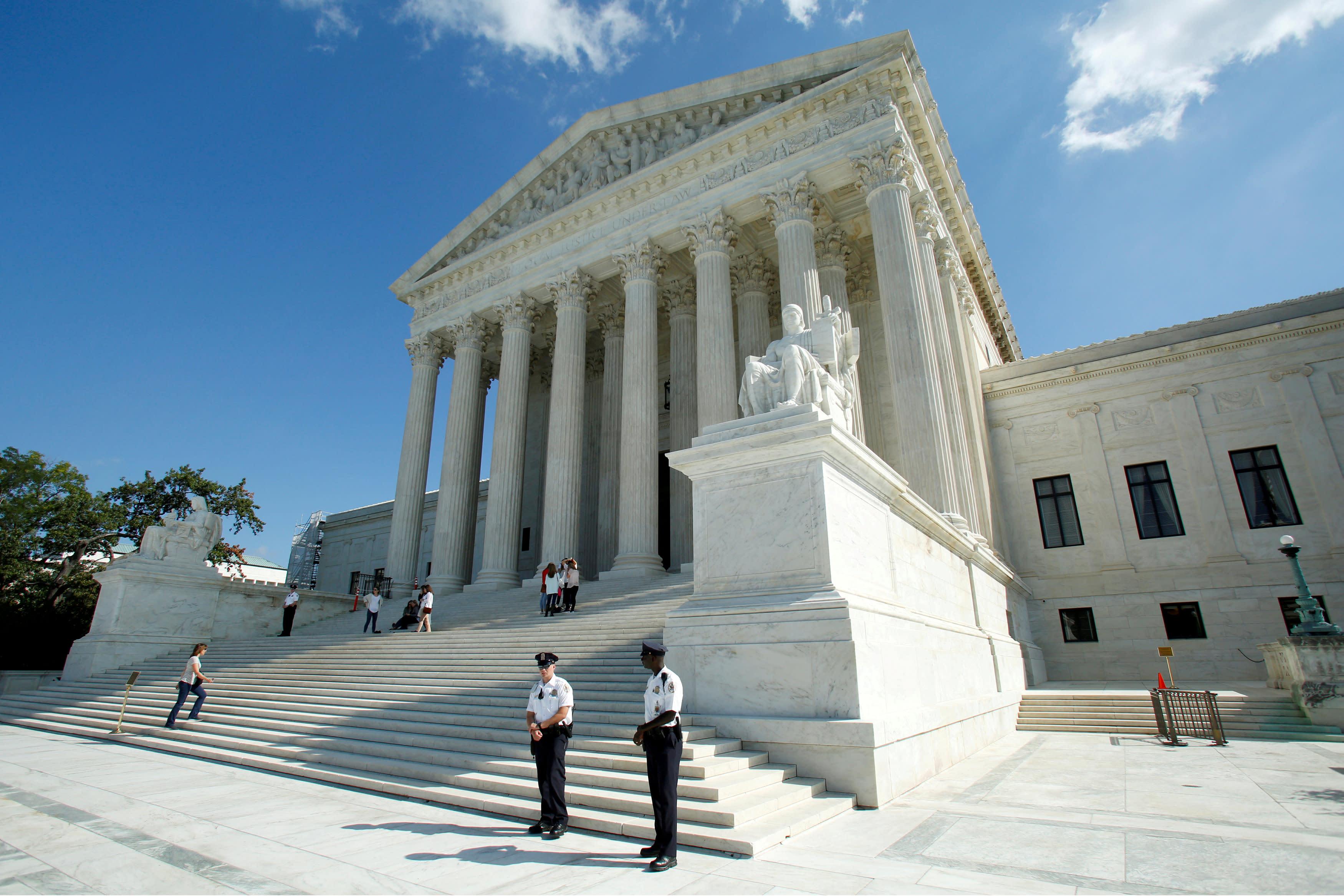 FILE PHOTO: U.S. Supreme Court is seen in Washington, U.S., October 3, 2016. REUTERS/Yuri Gripas/File Photo