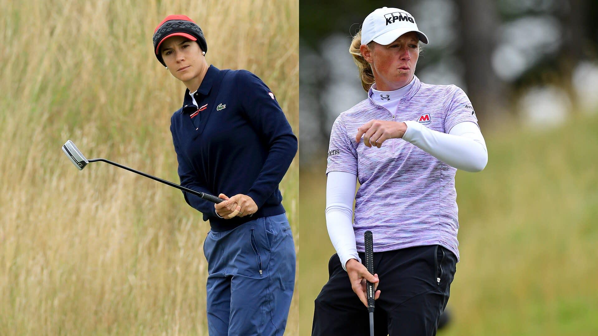 Azahara Munoz leads Stacy Lewis at Ladies Scottish Open, where Lydia Ko lurks