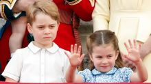 George, Louis and Charlotte smile big in unseen royal photo with dad William