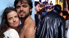 Agatha Moreira e Rodrigo Simas são flagrados aos beijos em aniversário de atriz