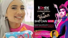 """Yuna says """"she can!"""" with her Kotex Limited Edition packs"""