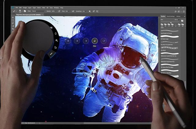 Adobe Photoshop adds support for Microsoft's Surface Dial