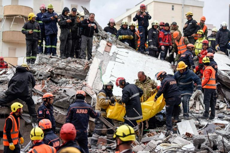About 900 people were injured in the earthquake, of whom 41 are still hospitalised, the authorities said (AFP Photo/Armend NIMANI)