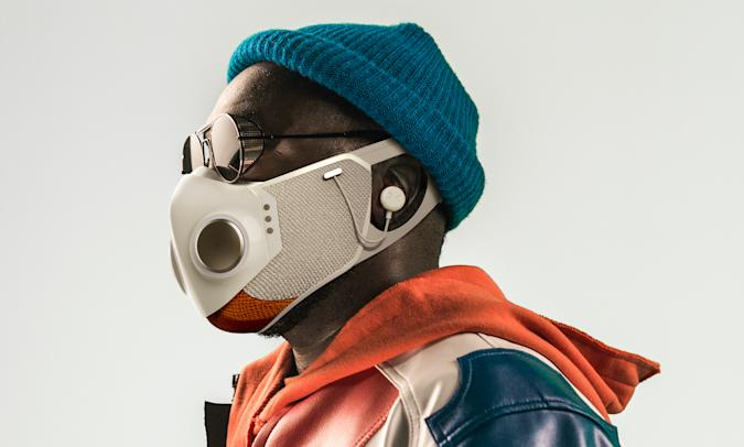 Will.i.am's Xupermask is a $299 HEPA face mask with ANC earphones built in
