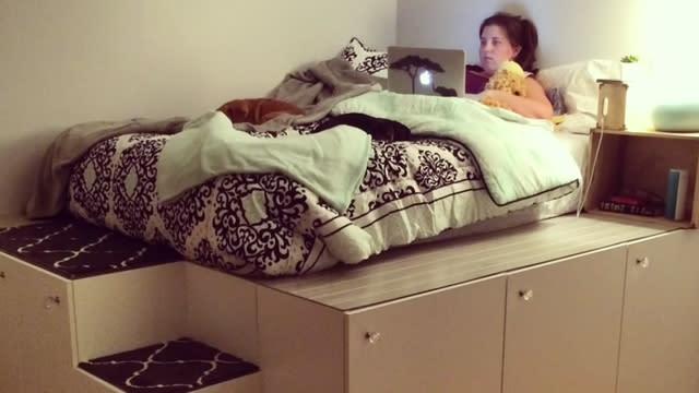 Ikea Hack Ein Bett Aus Ikea Schranken Video
