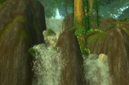 Around Azeroth: Feralas waterfall