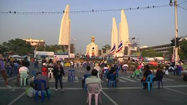 Anti-government protesters rally in Bangkok