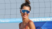 Alessandra Ambrosio Hops on the Anklet Train With a Red Bikini & a Sheer Coverup