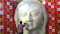 Durga Puja 2015: Biggest Durga idol at Deshapriya Park