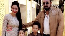 Love from the Dutts! Sanjay and Maanayata with their kids in this photo are too cute to handle