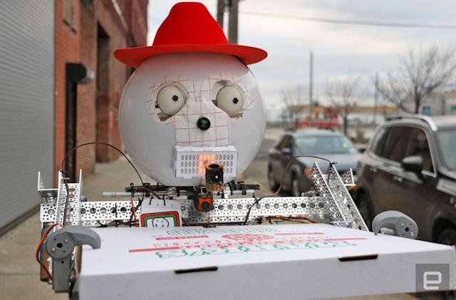 Humanoid beer-and-pizza-fetching robot is charmingly retro