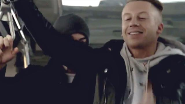 Macklemore & Ryan Lewis Surprise NYC Bus Cant Hold Us Performance