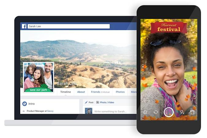 Facebook now lets you create your own frame for photos and videos