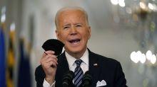 Hitting latest vaccine milestone, Biden pushes shots for all