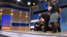 WATCH: Jeremy Kyle knocked to the floor during heated on-stage row