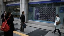 Asia shares edge up, China factories show flicker of life