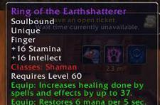 Server-first Shaman ring drops to a Pally