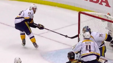 Disastrous first period for Predators ends with unfortunate bounce (Video)