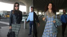 Raveena's Winter-ready Or Kangana's Relaxed Dress: Which Airport Outfit Will You Pick?