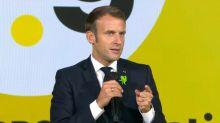 """Macron appelle les chefs d'entreprise à ne pas """"renoncer"""" face au Covid-19, malgré les """"contraintes"""""""