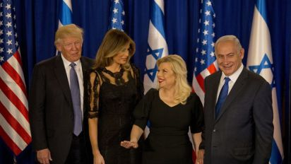 Melania Trump Slips Into an LBD After Rocking White Suit and Candy Cane Heels in Israel