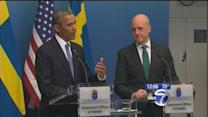 Obama in Russia, pushing for action on Syria