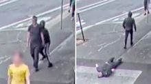 Sickening moment man's skull is fractured in one-punch attack