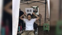 "Joyce Tang injures leg while filming ""Back to the Past"""