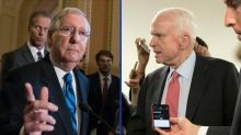 McConnell delays vote on health care while McCain recuperates from blood clot surgery
