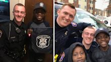 Police officer saves bullied boy's birthday after peers don't show up