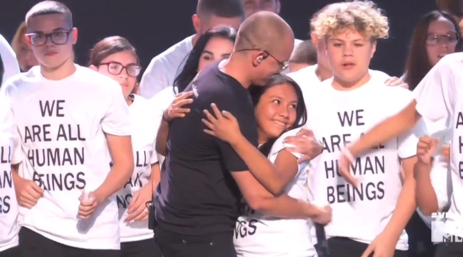 Logic, immigrant families protest Trump's policies with powerful VMAs  performance