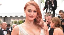 Curvy model Iskra Lawrence channels Jessica Rabbit at Cannes Film Festival