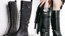 Boots with a cocaine pocket are actually for sale