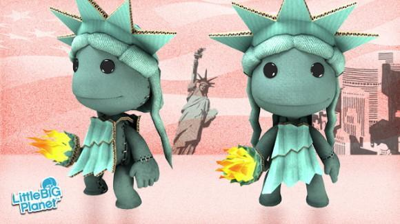 Download a free Sacktue of Liberty costume for LittleBigPlanet