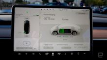 Tesla cars will play video with a future update