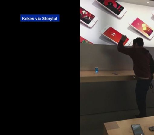 Frenchman Goes on Smashing Rampage in Apple Store