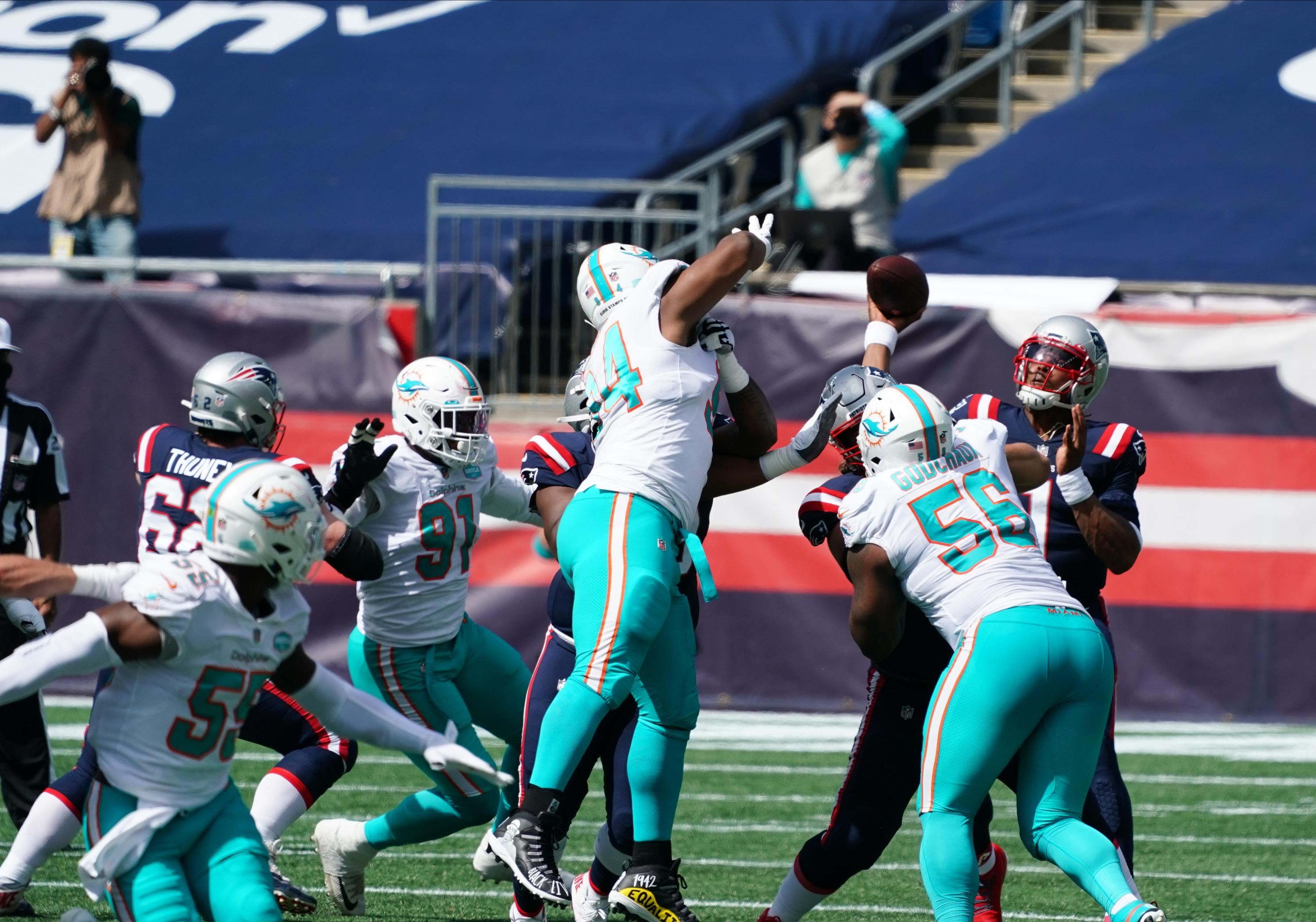 Dolphins' Week 1 pass rush win-rate offers hope for 2020 season