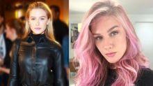 Para viver stripper em série, Fiorella Mattheis tinge os cabelos de rosa