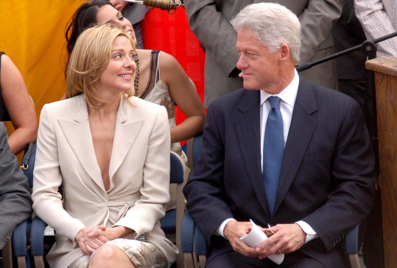 Kim Cattrall and former President Bill Clinton (Photo by Stephen Lovekin/FilmMagic)