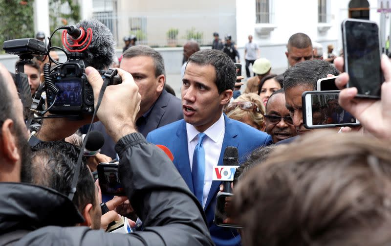 Venezuela opposition leader Guaido takes oath as parliamentary speaker