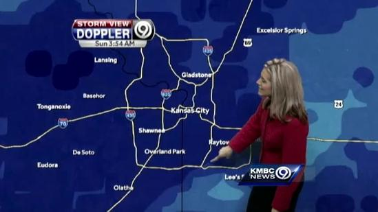 Heavy snow arrives, expected to last a few hours