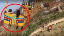 Shocking moment 16 injured as fairground ride malfunctions