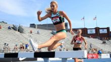 Emma Coburn wins Olympic Trials, extending record reign amid absence of distance stars
