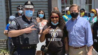 Police around U.S. also saying black lives matter