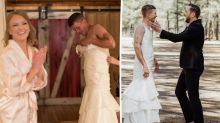 Bride hilariously pranks groom on their wedding day