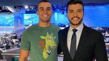 "Estreante no ""JN"", apresentador leva namorado para conhecer estúdio no Rio"