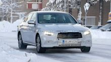 Mercedes-Benz E-Class saloon refresh spied enjoying the snow