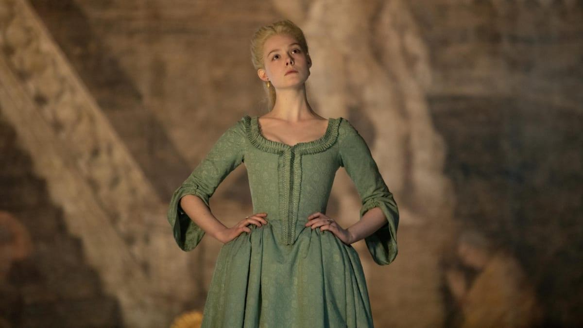 Elle Fanning Wears Dior-Inspired Imperial Gowns in Hulu's 'The Great'